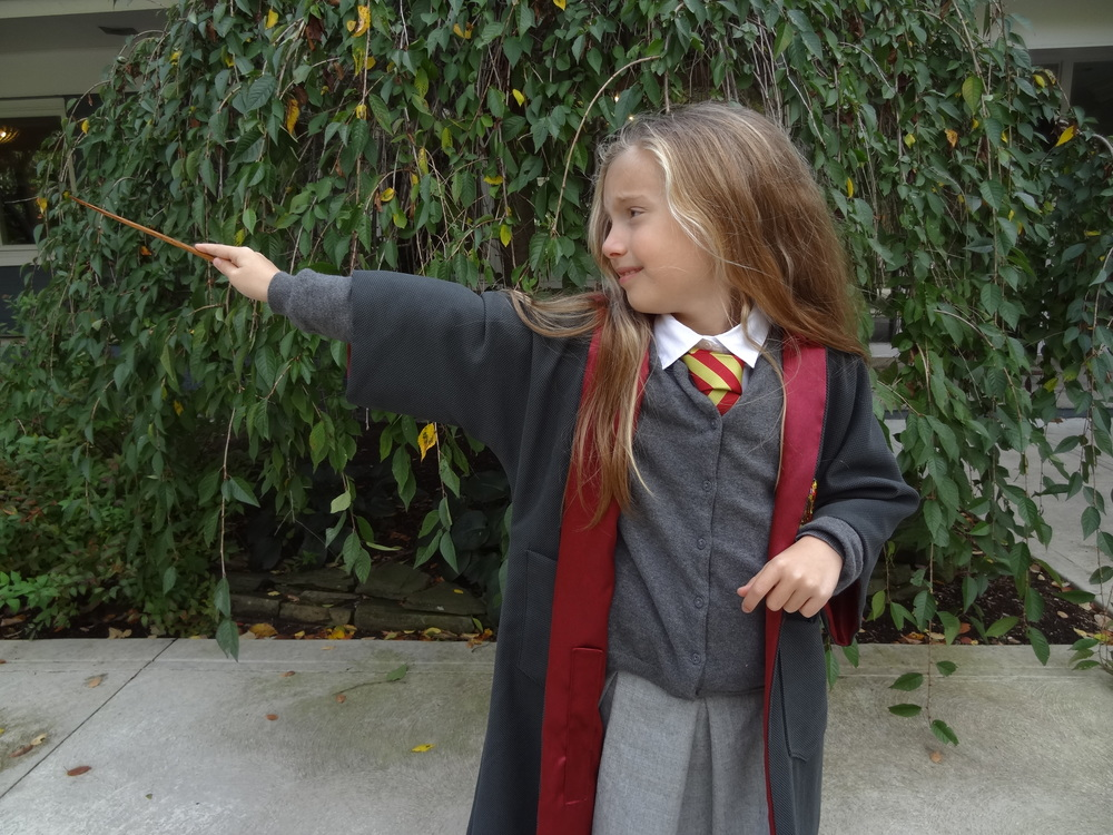My little Hermione couldn't me more pleased with how the costume turned out and can't wait to hit the streets on the 31st!  Happy halloween!