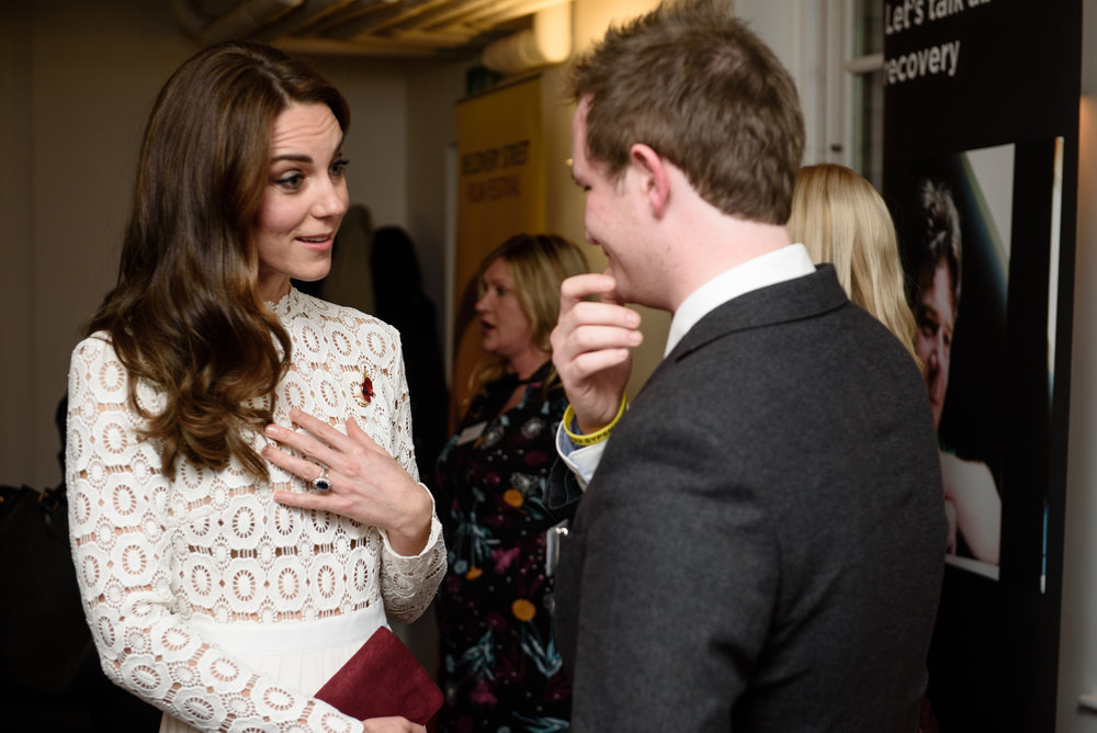 Harry speaks to HRH Duchess of Cambridge about his story