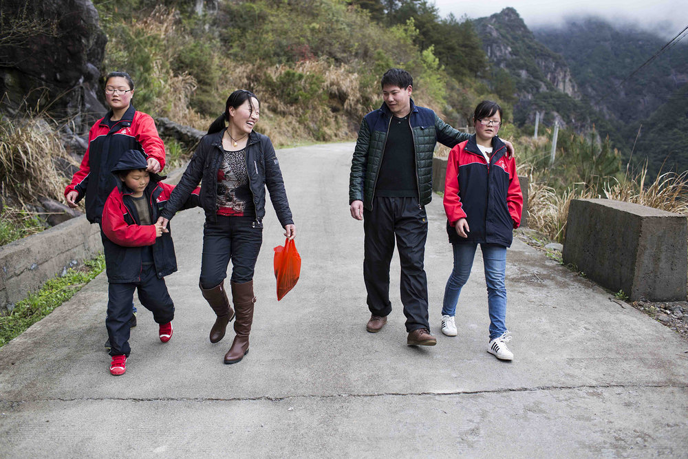 Guocheng Ma and his wife, Chunxia Zhu, returned to their kids in Mashang Mount, Wenzhou, after they subleased their breakfast shop in suburban Shanghai. Guocheng Ma wants to make more money by relocating his breakfast business to a place that is cheaper than Shanghai and closer to home.