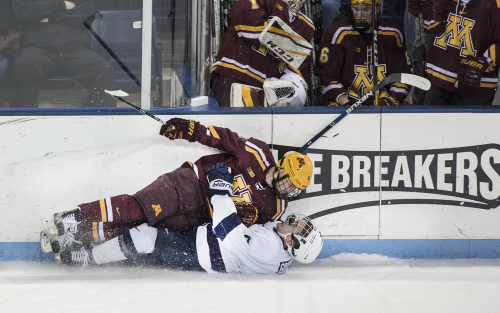 Minnesota wins in overtime over Penn State men's hockey at Pegula Ice Arena on Feb. 17, 2017.