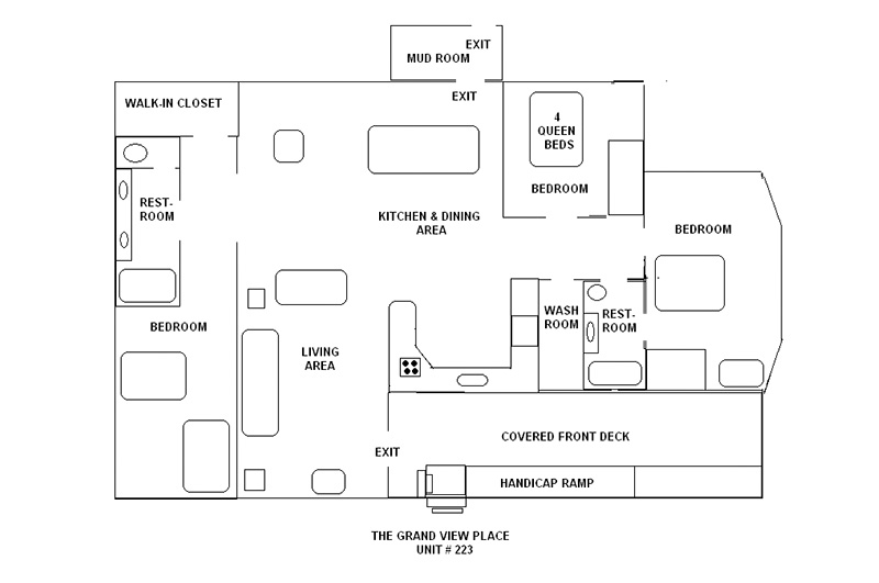 Bull Shoals Lake view lodging_floorpan