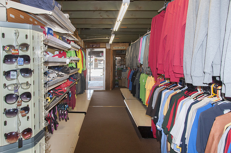 t-shirts, clothing, and souvenirs at the Theodosia gift shop in Southern Missouri