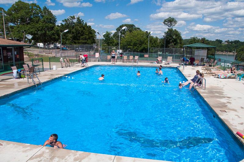 Missouri vacation_swimming pool at Theodosia Marina-Resort at Bull Shoals Lake