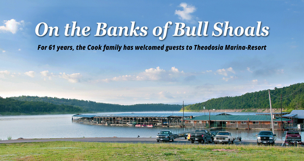 Anglers and vacationers have been coming to the Theodosia Marina-Resort on Bull Shoals Lake for 61 years, making it one of Ozark County's most popular destinations.