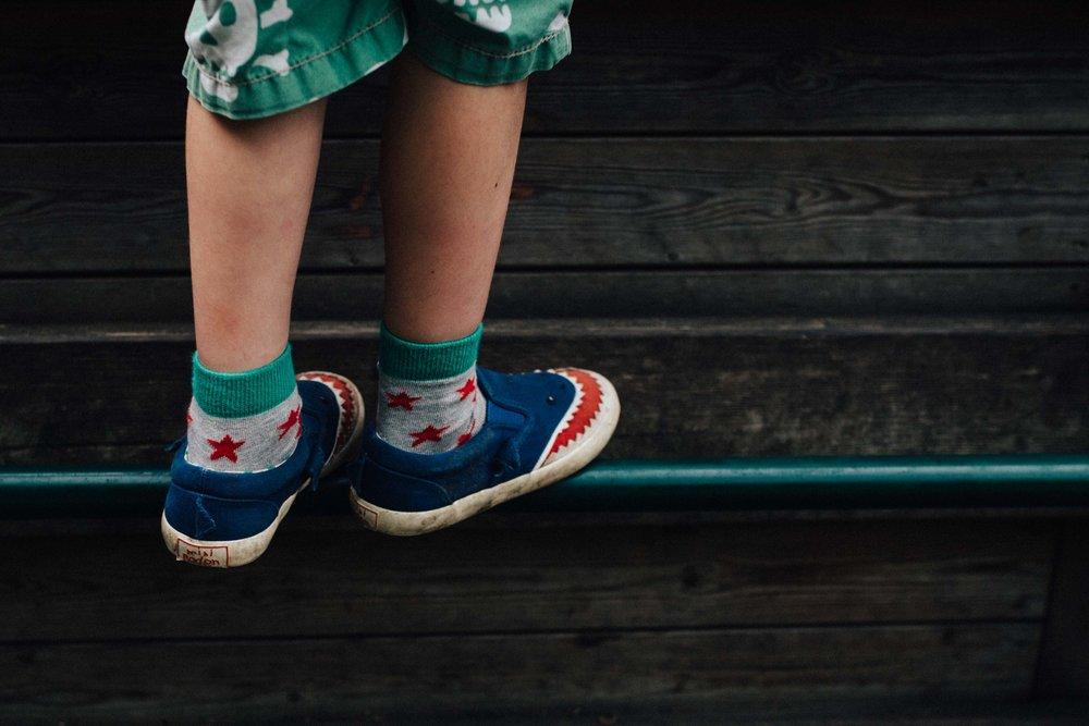 Details of boy shoes