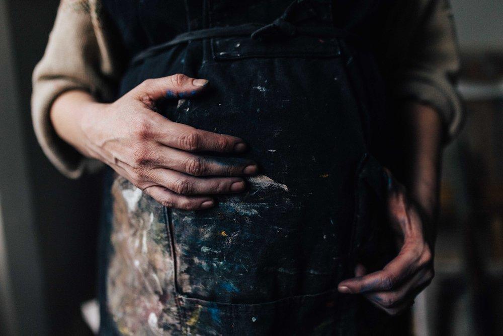 Hands of artist