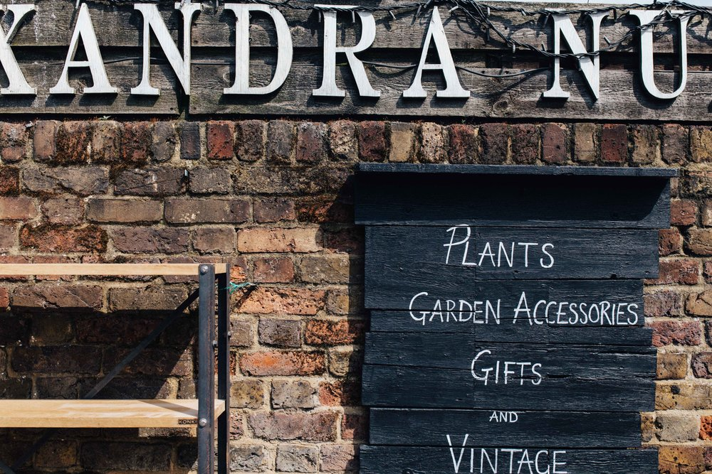 Shop sign, at Alexandra Nurseries, Penge, South East London