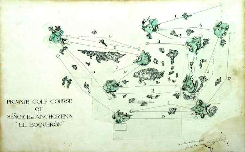MacKenzie's 1930 Plan for the El Boqueron estate course in Mar del Plata, Argentina (Courtesy of David Edel)