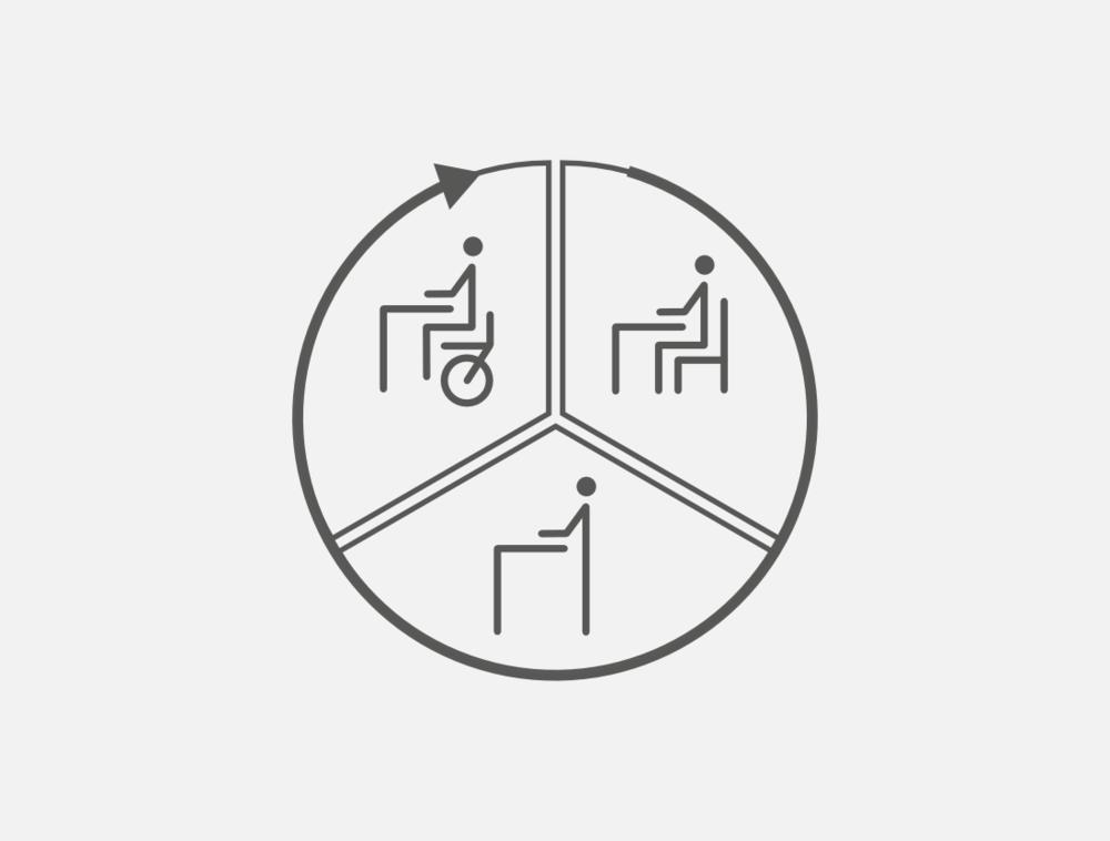 Stehe-Sitzen-Radeln