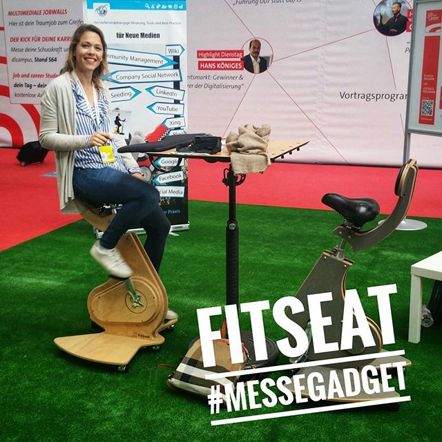 #FitSeat - #Messegadget @Cebit @itwegweiser @industriewegweiser . . . . . #fitness #fitlife #cardio #workout