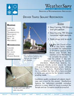 Denver Temple Sealant Restoration