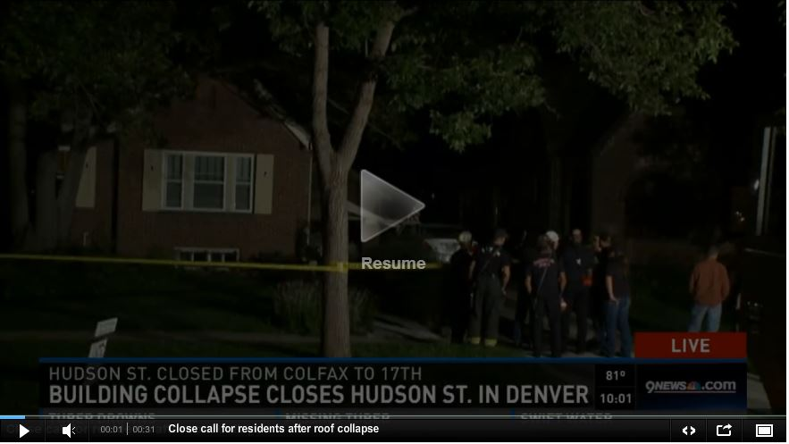 Neglegent roofer causes roof collapse in Denver - From www.9News.com