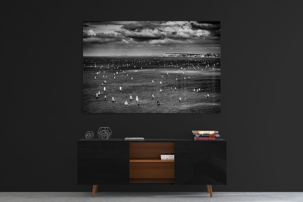 Round-The-Island-Yacht-Race-BW-Acrylic-Print.jpg