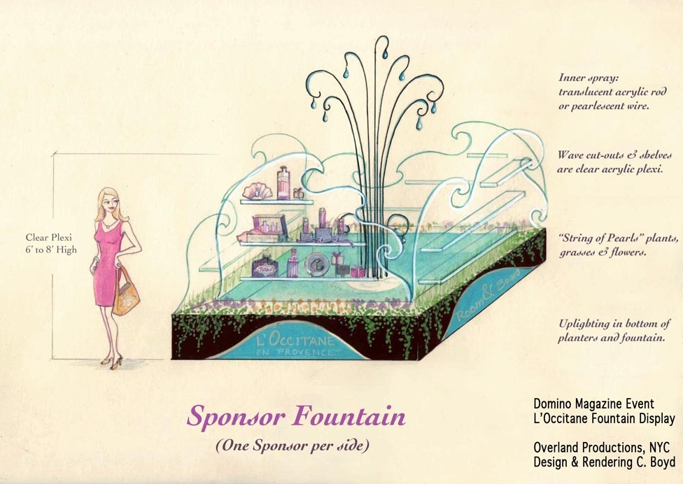 Domino Sponsor Fountain Design