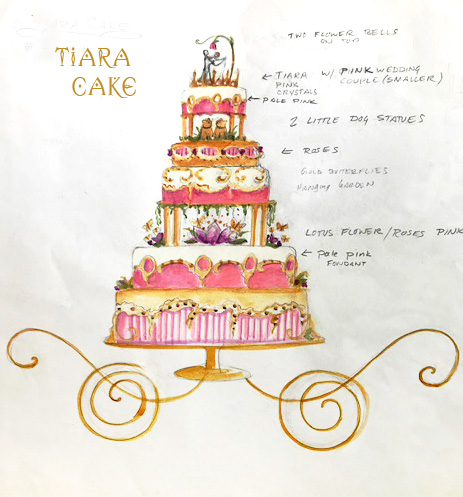 Tiara Cake Sketch The Wedding Bros.