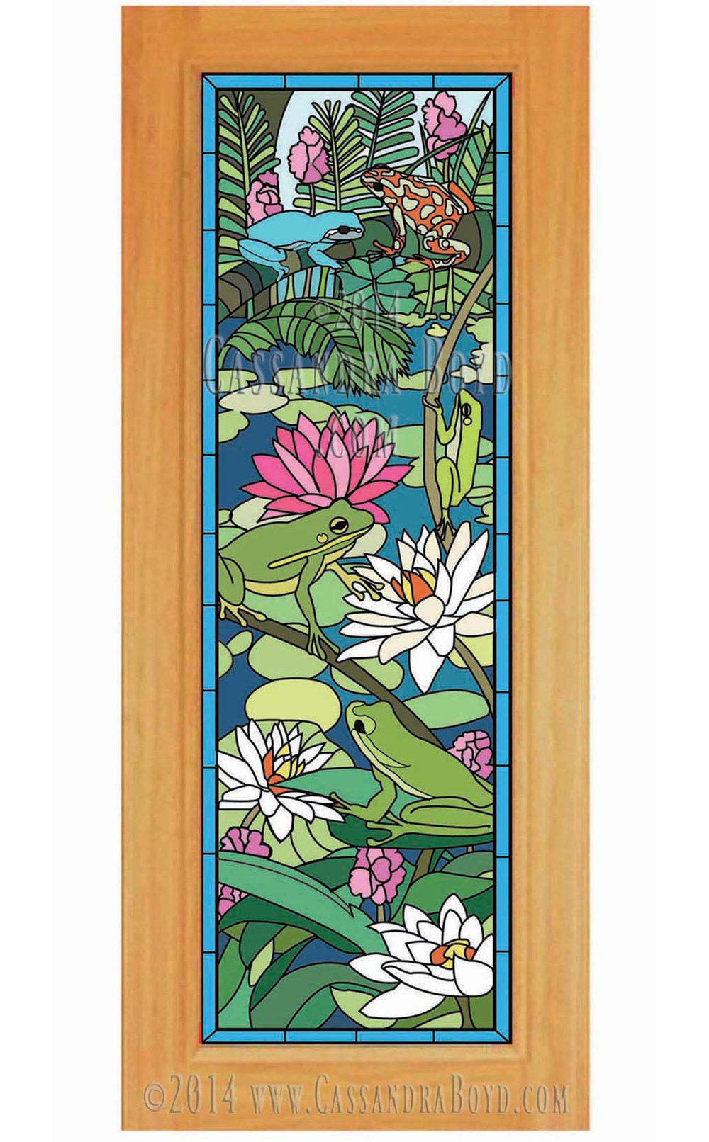 Frog & Lotus Door