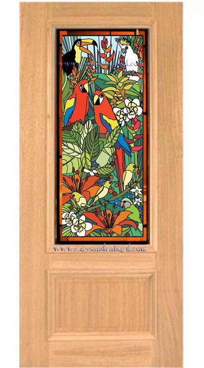 Tropical Bird Door
