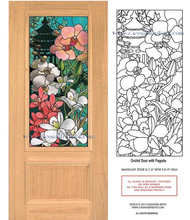 Orchid & Pagoda Door