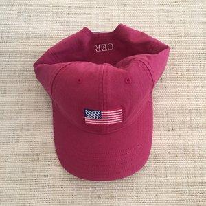 742e325006aa5 Red American Flag Needlepoint Baseball Cap