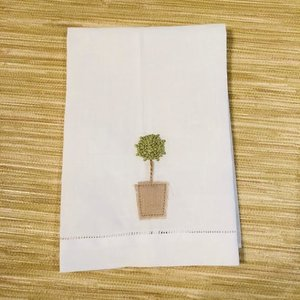 single topiary handtoweljpg - Kitchen Hand Towels