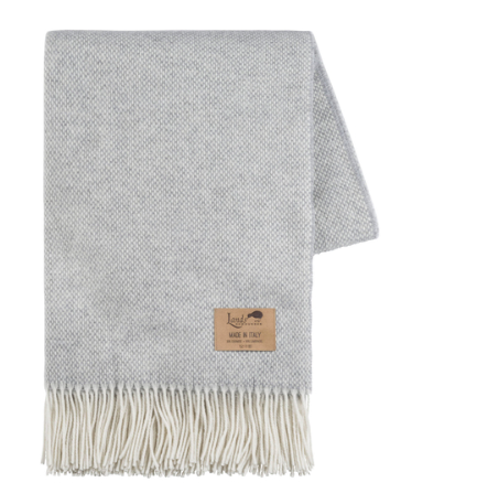 Light Gray Cashmere Lands Down Under Throw Blanket The Monogrammed Magnificent Light Gray Throw Blanket