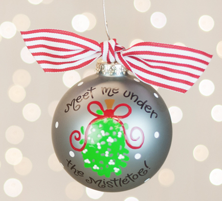 meet me under the mistletoe christmas ornament