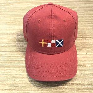 244ef5c486fe5 Rum Nautical Flags Needlepoint Baseball Cap