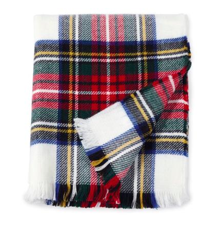white tartan throw blanket the monogrammed home