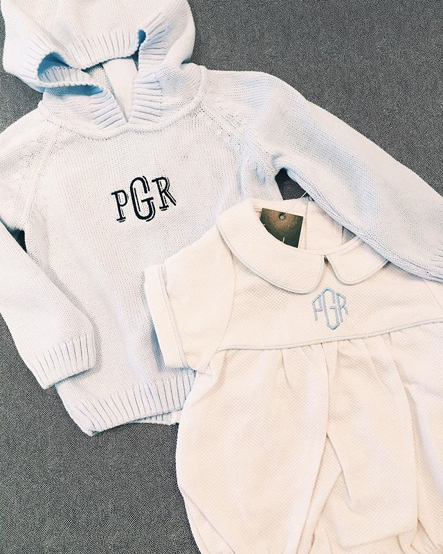 What were your favorite baby gifts to receive? I always loved getting sweet outfits & envisioning my little one wearing them! 👶🏼Welcome baby with sweet monogrammed outfits! A zipback hoodie will keep him warm & a pique bubble is perfect for a fancier occasion! #themonogrammedhome #monogrammed #personalizedgifts #babygifts
