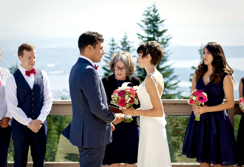 Grouse Mountain wedding photo