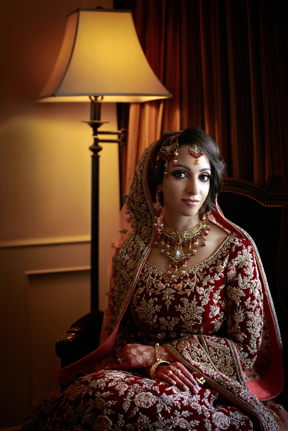 East Indian Bride Wedding portrait at Wedgewood Hotel & Spa Vancouver