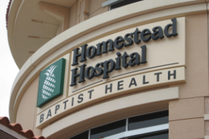 HOMESTEAD HOSPITAL (BAPTIST HEALTH)  HOMESTEAD, FL EXTERIOR SIGNAGE & INTERIOR WAYFINDING