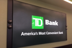 TD BANK  INTERIOR SIGNAGE & DIGITAL SIGNAGE