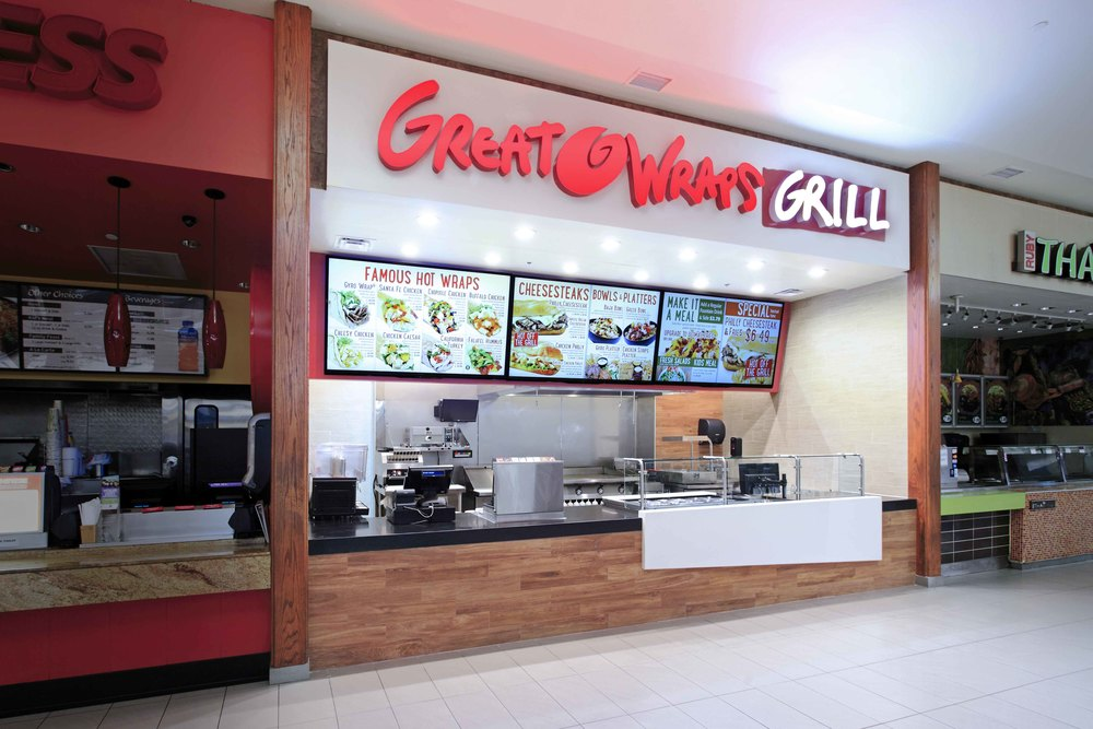 GREAT WRAPS  MALL SIGNAGE