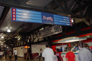 ATLANTA BRAVES  TURNER FIELD STADIUM SIGNAGE