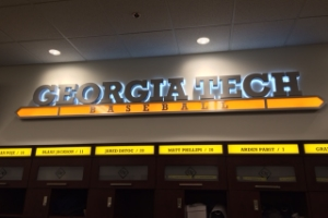 GEORGIA TECH RUSS CHANDLER STADIUM INTERIOR SIGNAGE