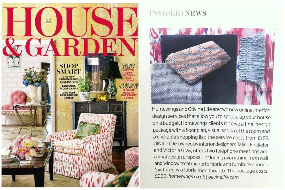 House & Garden Magazine April 2017