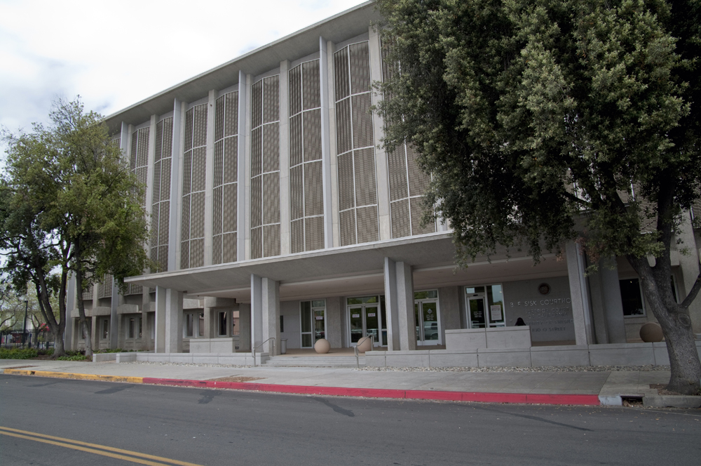 The Fresno B.F. Sisk courthouse handles the county's civil and family law matters.  It was once the local federal building but was sold to the state.