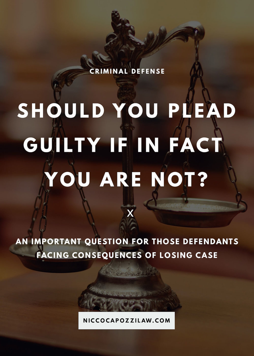 should you plead guilty if you are not