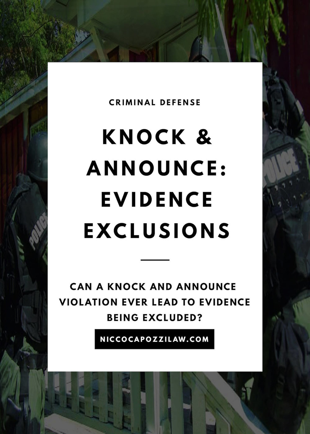 Can knock and announce lead to evidence exclusion.jpg