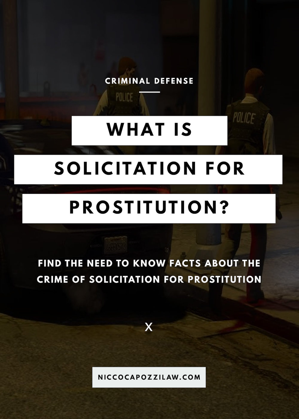 what is solicitation for prostitution