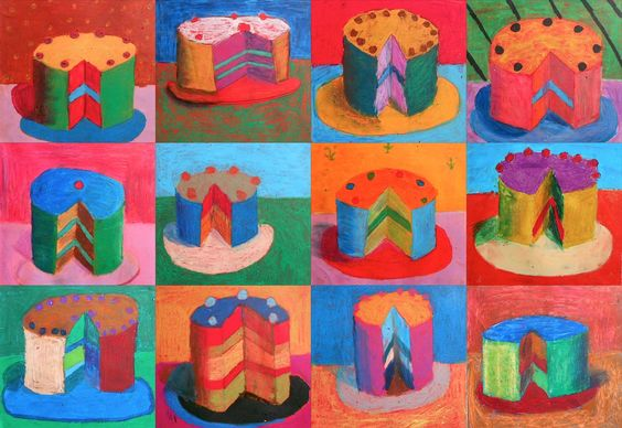 """""""Let Them Eat Cake"""", Thiebaud inspired"""