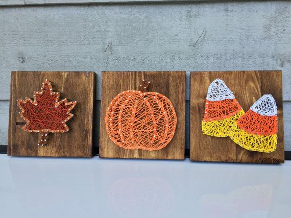 """I've Got the World on a String"", Autumn String Art"