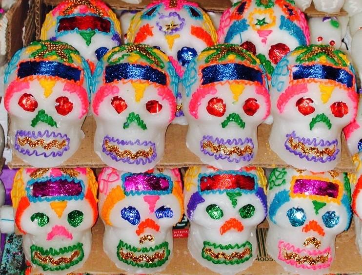 Sugar Skulls, Oaxaca City public market, 2002