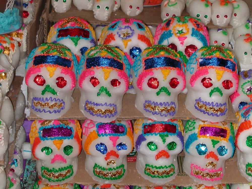 Sugar Skulls, Oaxaca Market, Mexico 2002