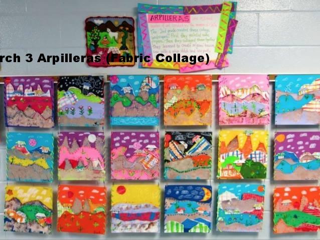 March 3 Arpilleras (Fabric Collage)