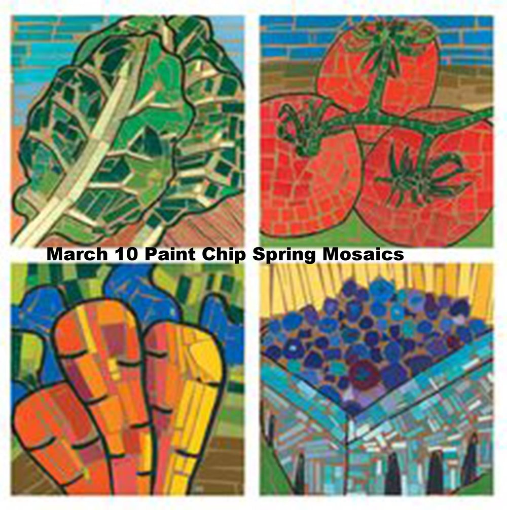 March 10 Paint Chip Spring Mosaics