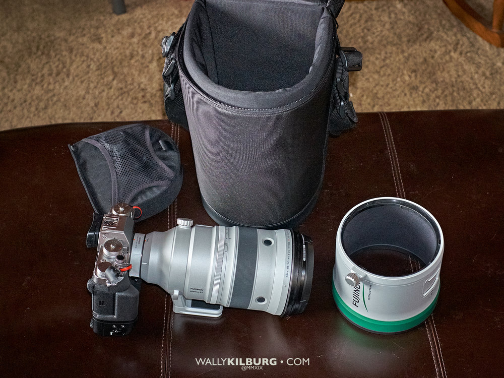 The Fujinon XF 200mm F2 OiS with case, TC and hood. Camera not included :)