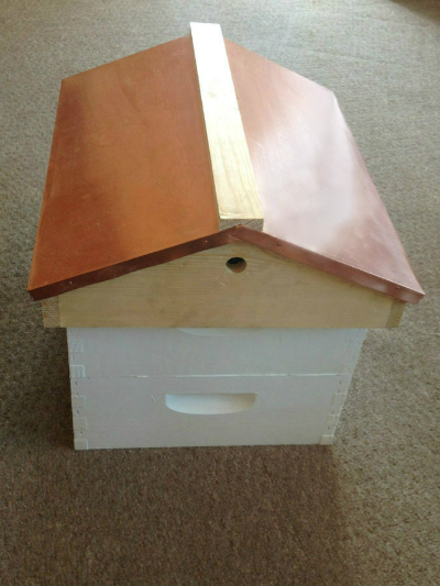 Garden Roof -    Copper Covered Peaked Roof - fully telescoping copper covered peaked roof in 10 frame (special order 8 frame)
