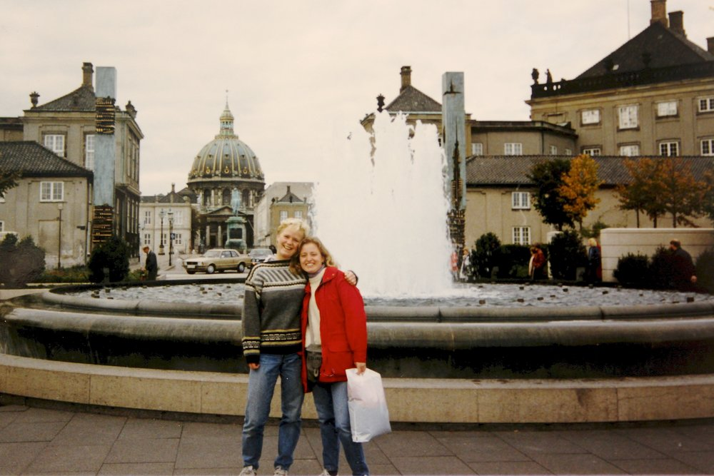 Mette and I in 1988 in downtown Copenhagen.